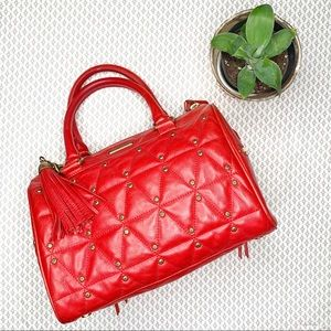 Rebecca Minkoff Flame Quilted Red Leather Satchel